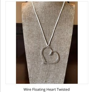 Handcrafted Wire Heart - Twisted